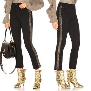 Mother High Waisted Looker Ankle Fray Skinny Jeans